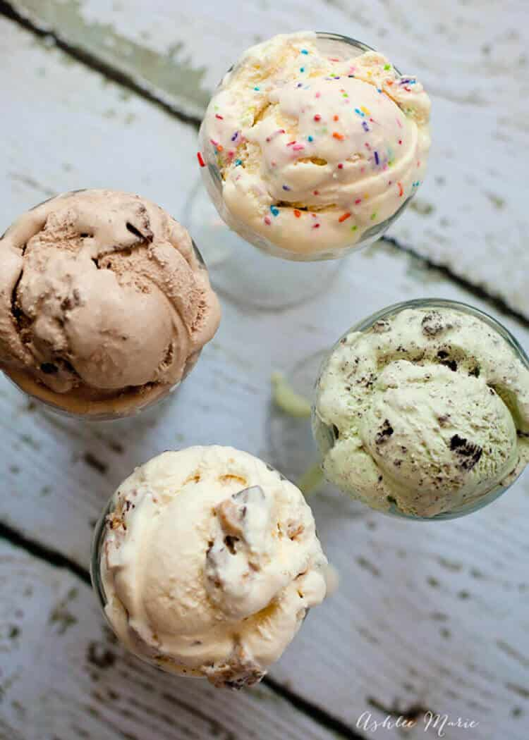 how to easily make any flavor of ice cream with a basic recipe