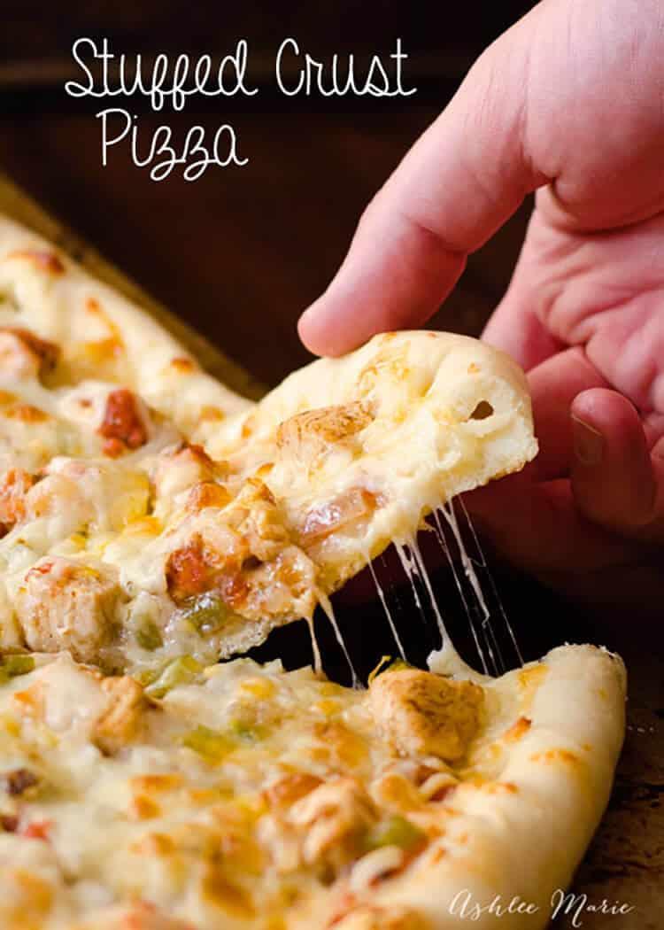 we make pizza every week, my kids love making homemade stuffed crust pizza as a extra treat