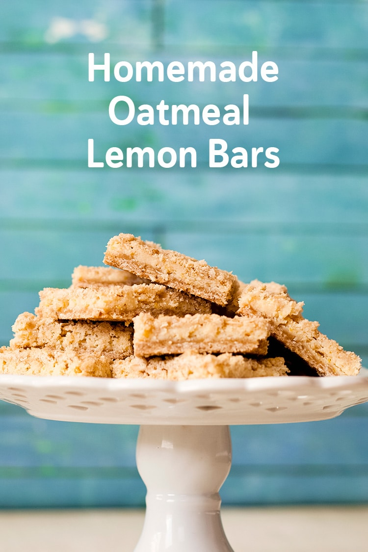 homemade oatmeal lemon bars recipe and video
