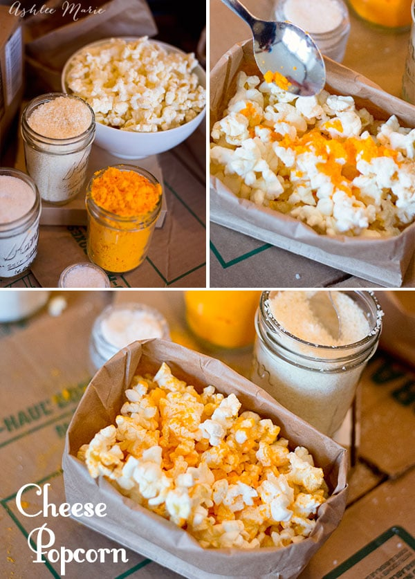 One of the main foods in The Boxtrolls is Cheese, so we made cheese popcorn