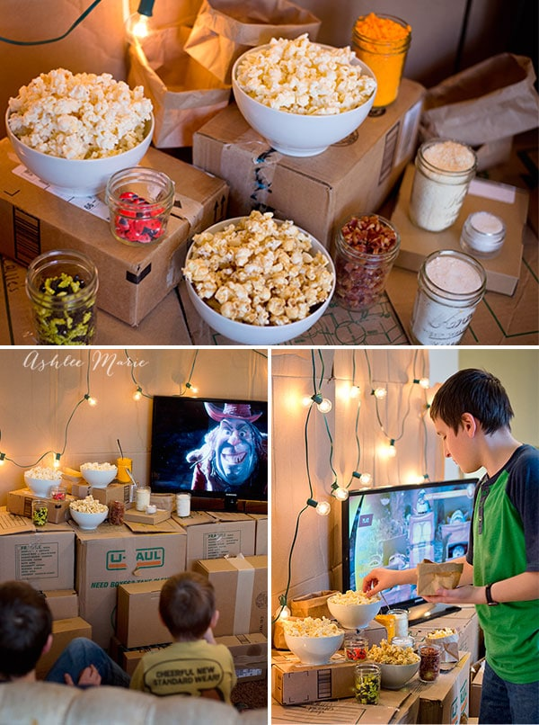 We enjoyed our candy bug and cheese popcorn bar for our family movie night viewing of The Boxtrolls