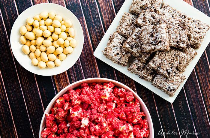 M&M oscar party foods