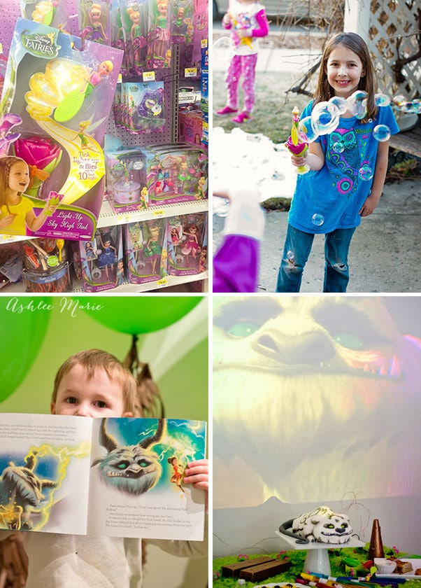 Bubbles, toys, books and movies, a great playdate