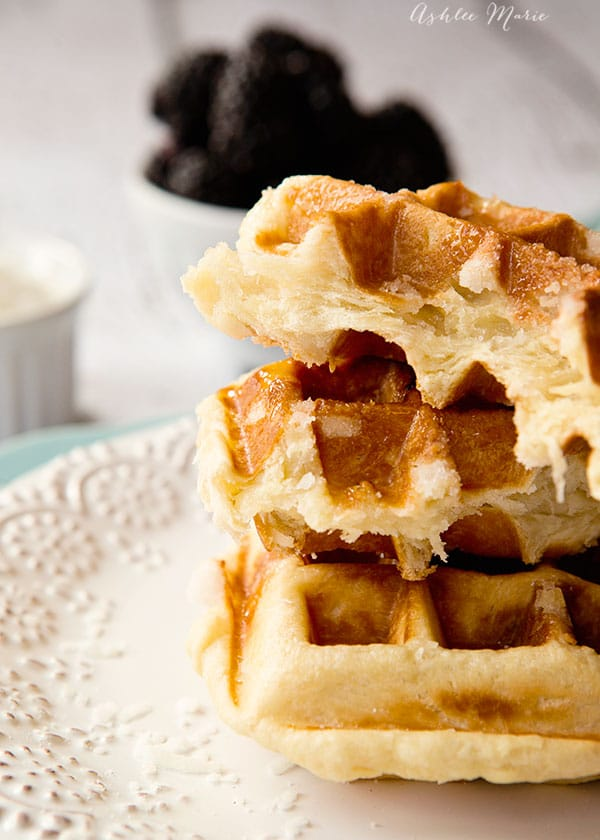 these coconut liege waffles are delicious, with amazing flavor and texture
