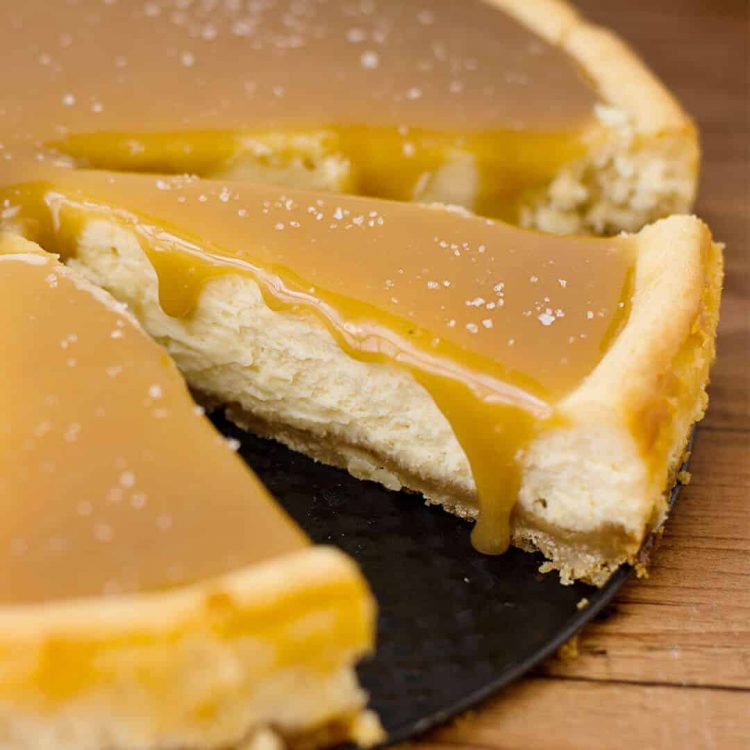 this salted caramel cheesecake is divine, creamy, smooth and tastes amazing with a macadamia nut crust
