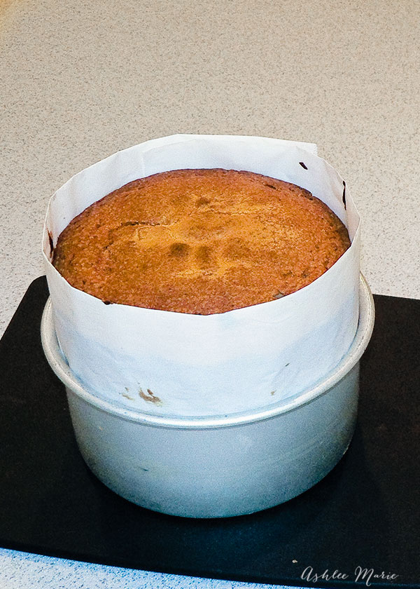 using parchment paper to bake taller cakes