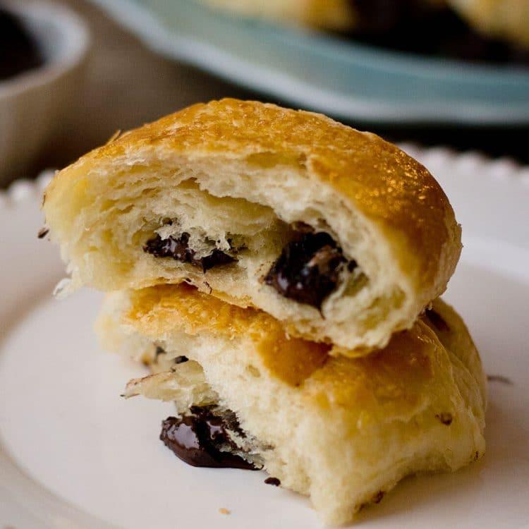 chocolate croissant - pains au chocolat