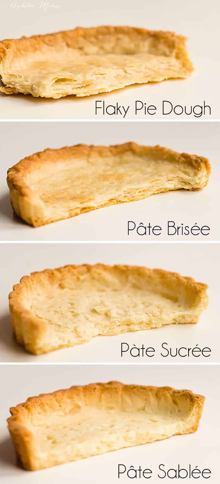 Four amazing Pie Crusts - Flaky, Brisee, Sucree, Sablee ...