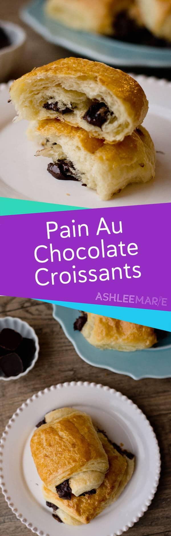 pain au chocolat - chocolate croissant recipe