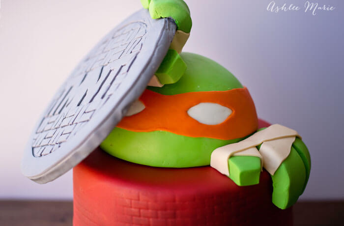 teenage mutant ninja turtle fondant birthday cake