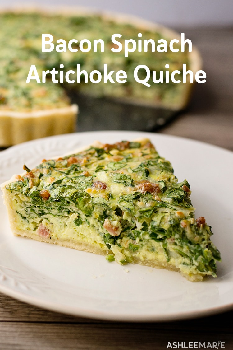 bacon spinach artichoke quiche recipe and video