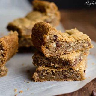 mini chocolate chip and pecan blondie recipe