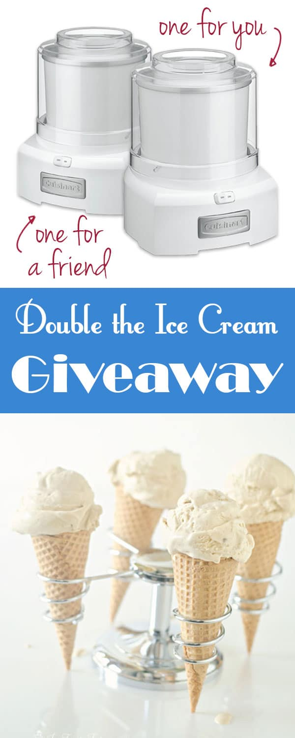 A giveaway for two ice cream makers, one for you one for a friend. Along with a roundup of 29 recipes you can use your new machine with