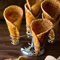 homemade waffle cone recipe, it is easy to make, smells amazing and is delicous