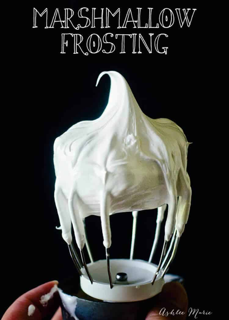 this marshmallow frosting is easy to make and tastes amazing, it is great on cake, ice cream, brownies, and graham crackers