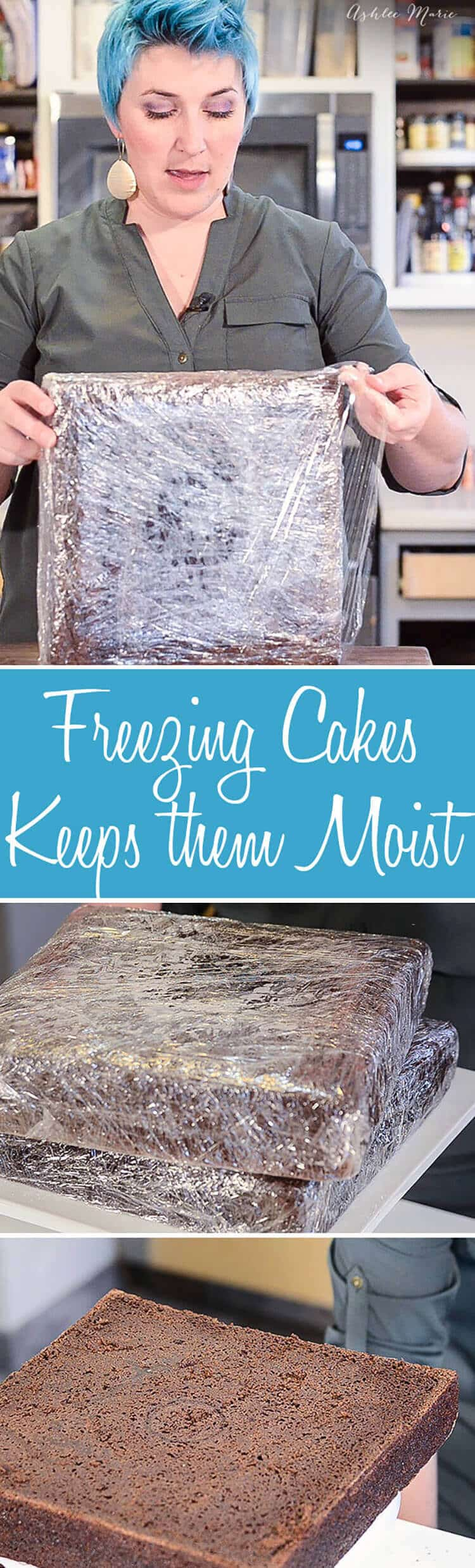 Why freezing cakes keeps them moist and easier to work with.
