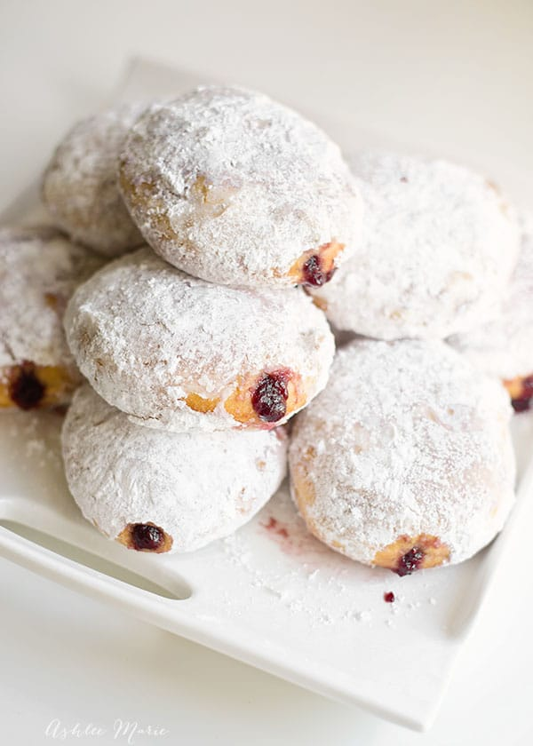 everyone loves a fresh jelly filled powdered doughnut and the best way to get one is to make it yourself