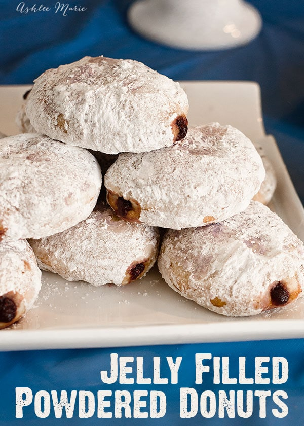 these doughnuts are easy to make and delicious.  It doesn't get much better than homemade jelly filled powedered donuts are always a huge hit