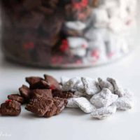 black and white puppy chow