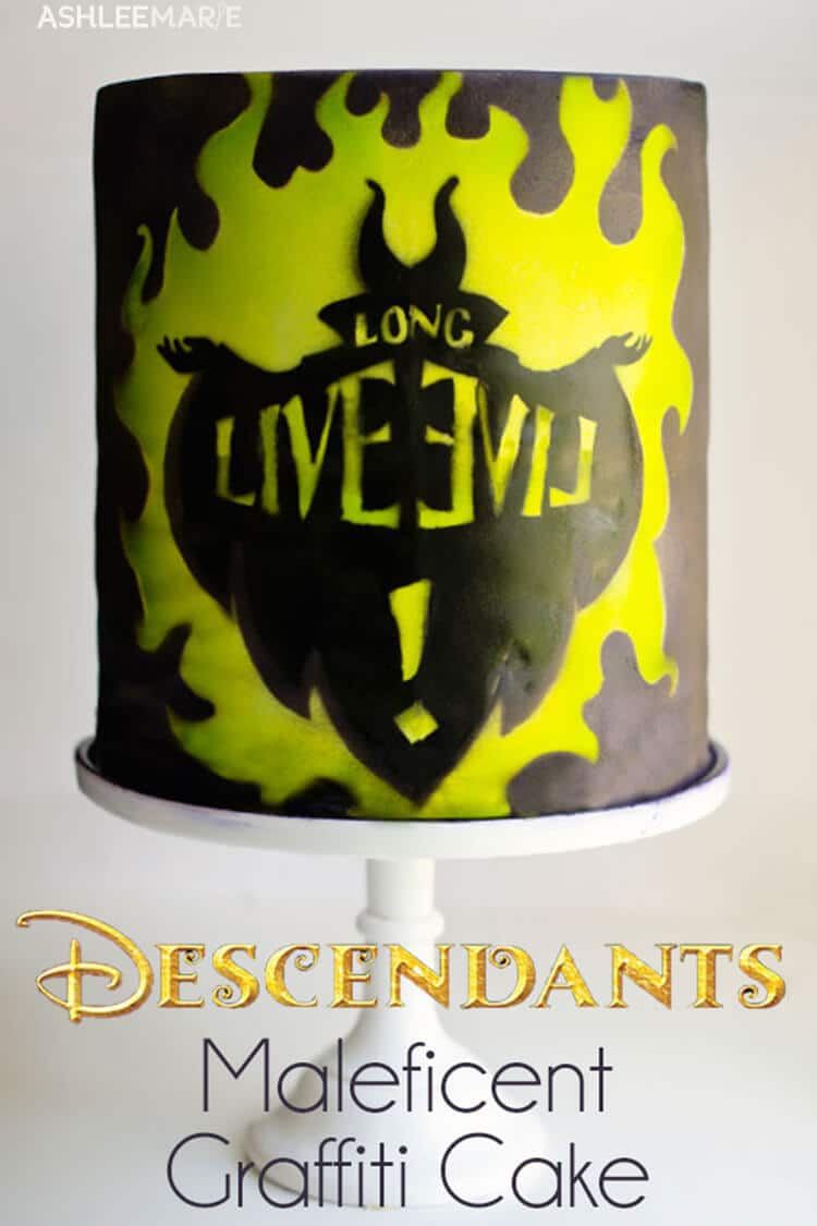 descendants graffiti cake