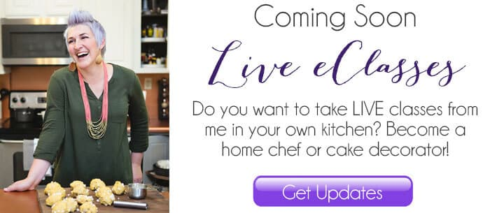 take live ecourses in baking, cooking and cake decorating