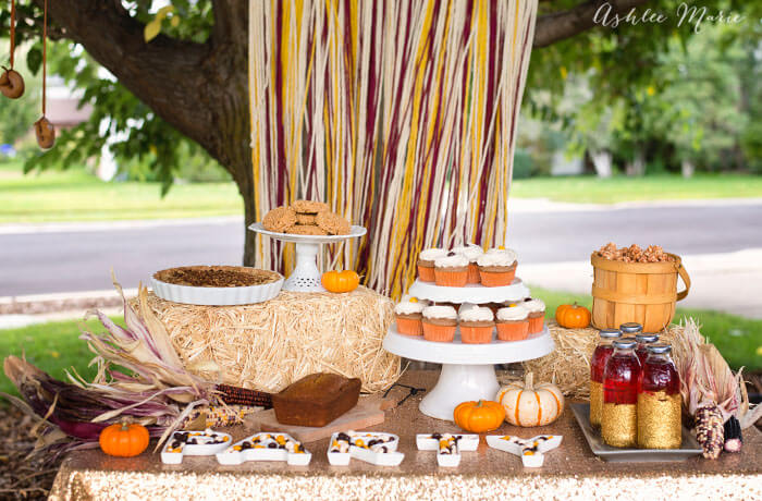 fall harvest party with recipes and decorations