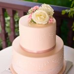 stenciled wedding cake