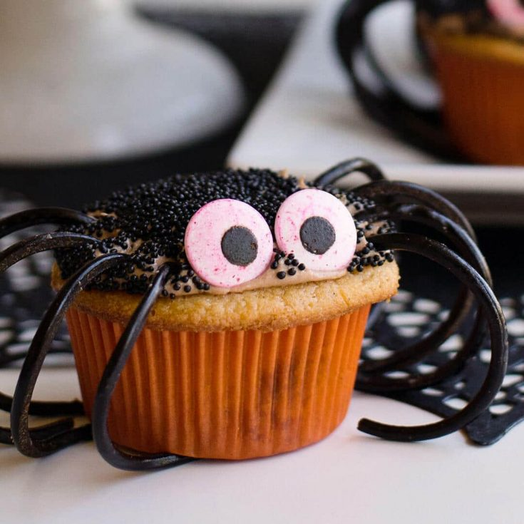 Chocolate and Caramel Spider Cupcakes - Halloween Baking Championship ep 1 preheat