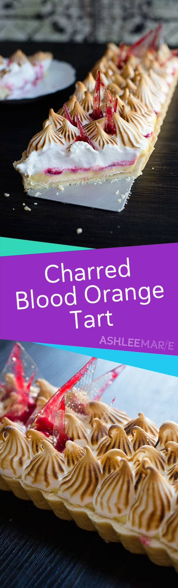 charred blood orange tart recipe