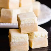You can make just the butterscotch layer for a simple three ingredient fudge, but adding the second layer makes it look more like butterbeer with creamy foam