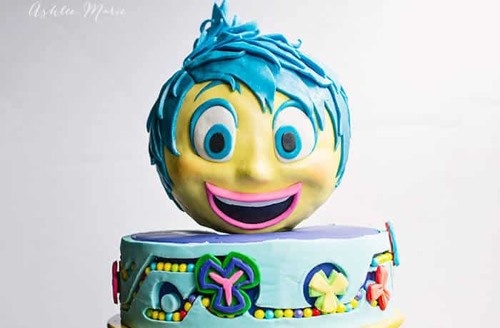inside out joy cake video tutorial