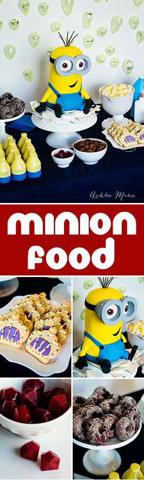 it is all about the food for me at a party! With tons of fun food options your minion party will be a huge hit