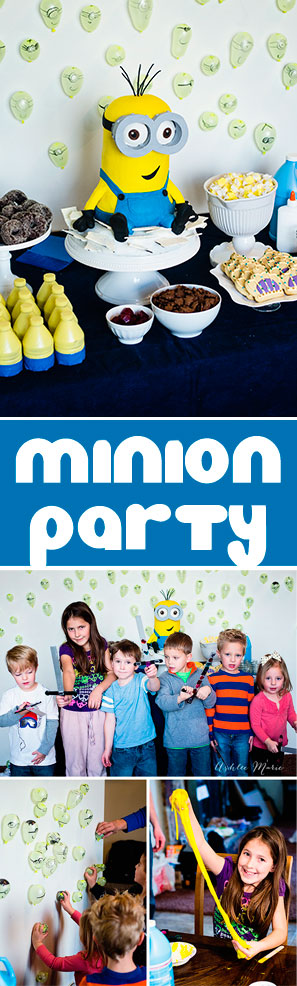 this Minions party was easy to throw and a huge hit with everyone who attended, fun foods, easy crafts, fun cake!