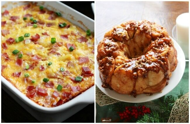 the BEST breakfast casserole and gloriously delicious sticky buns, perfect brunch foods