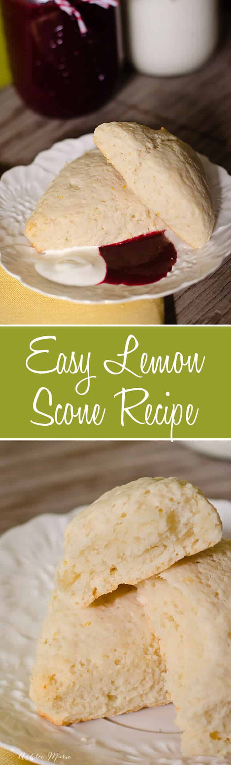 easy to make and oh so delicious; these lemon scones make the house smell divine and the flavor and texture are so good; a copycat recipe from epcot at disneyworld