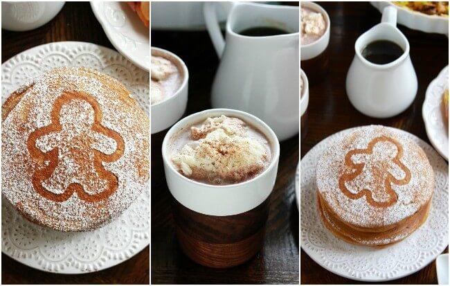 Gingerbread pancakes, christmas cocoa and homemade maple syrup! Sounds like Christmas morning