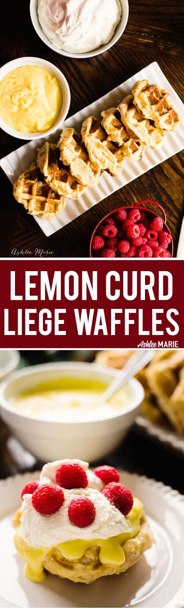 lemon curd raspberry liege waffles