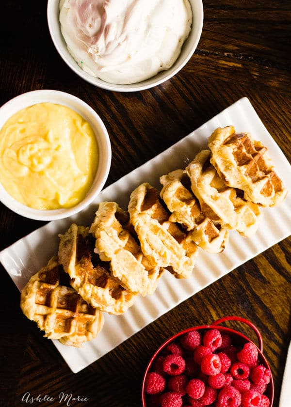 liege waffles and lemon curd recipe
