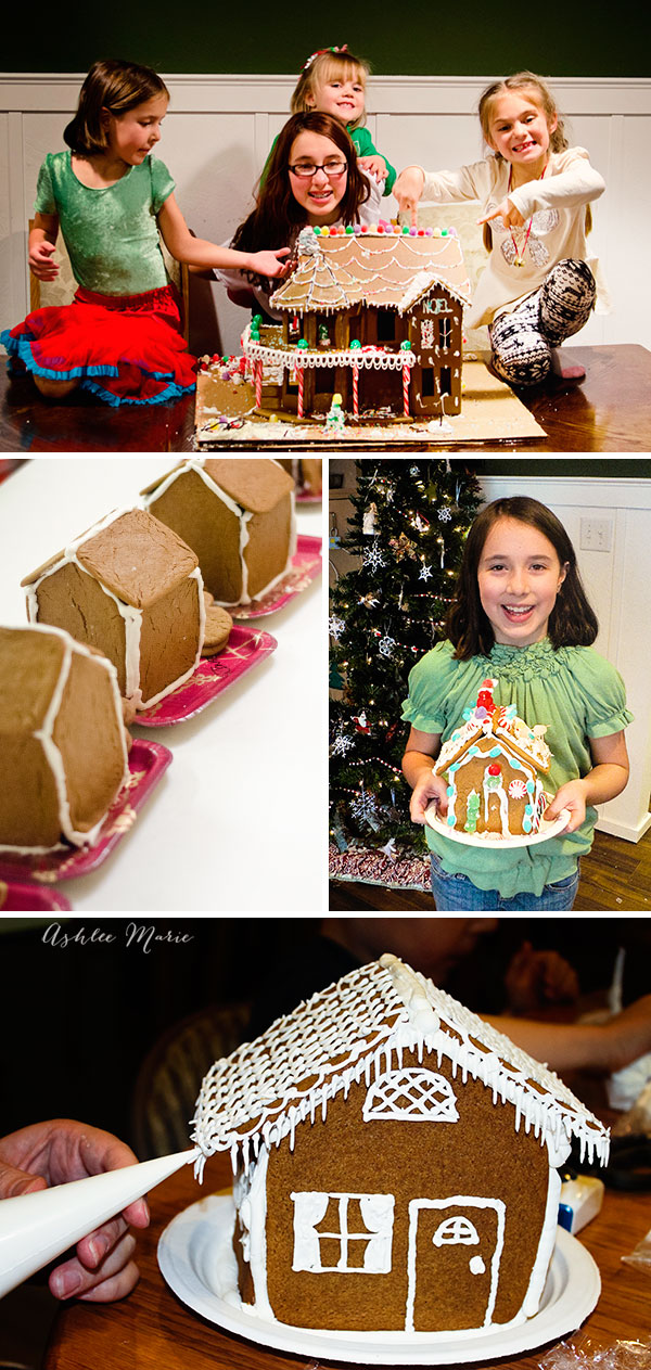 making christmas gingerbread houses