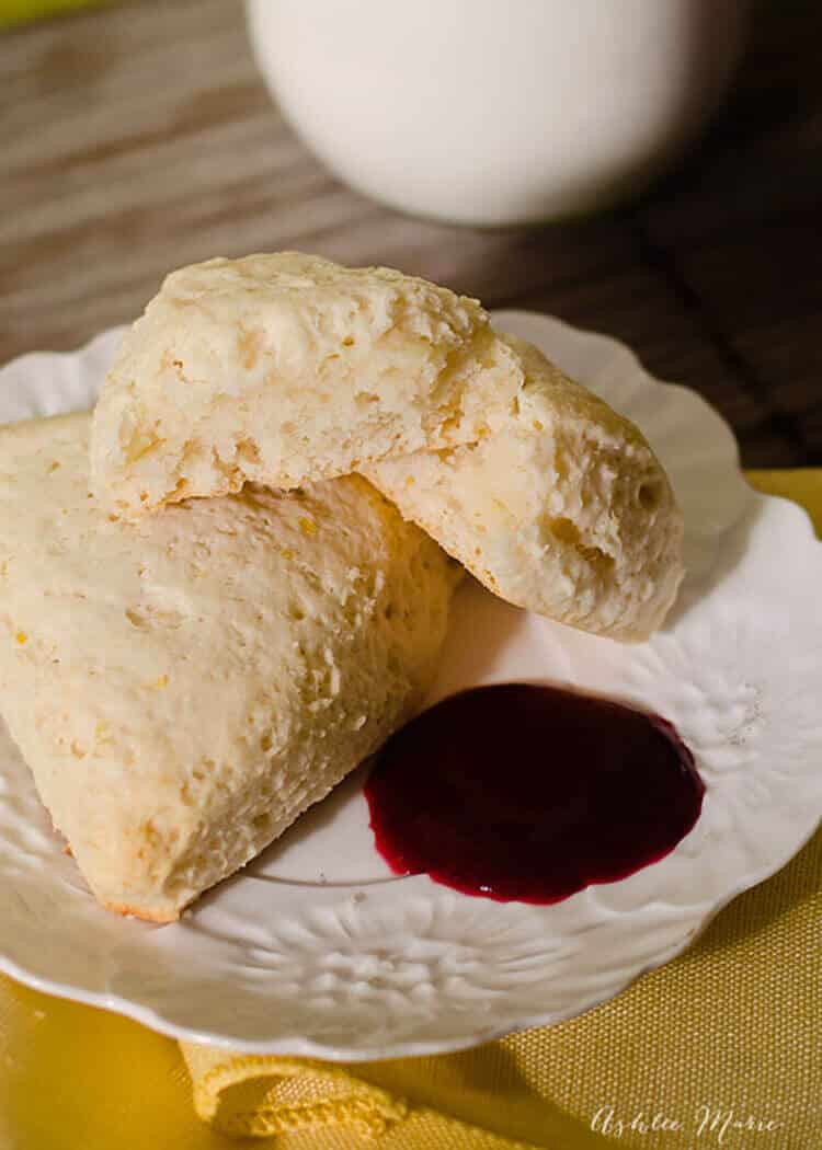 the smell of these lemon scones baking is divine and they taste great too