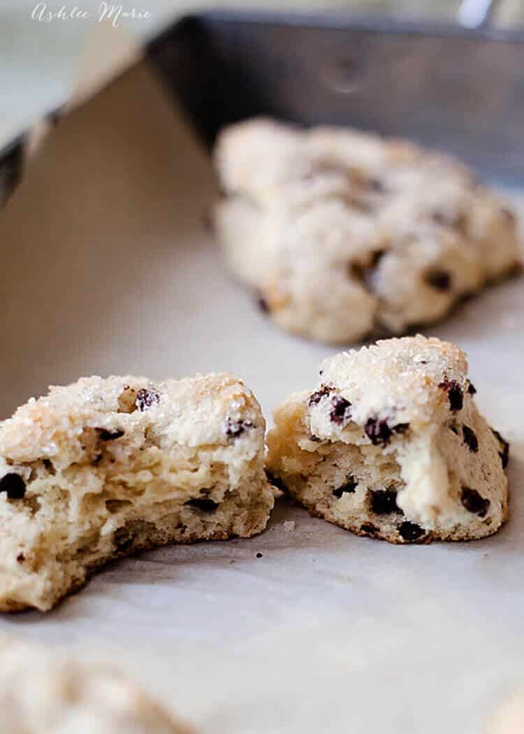 these are the easiest and best chocolate chip scones youll ever try