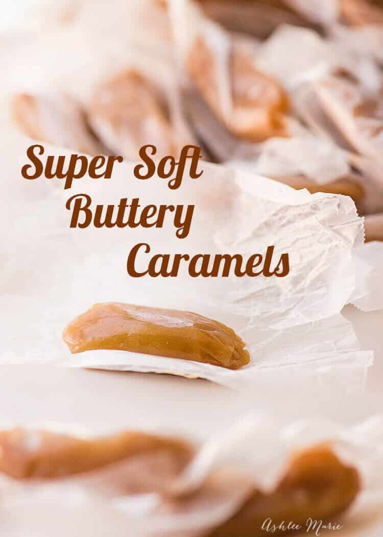 these soft caramels are perfect for neighbor gifts or just to eat at home! recipe and video tutorial