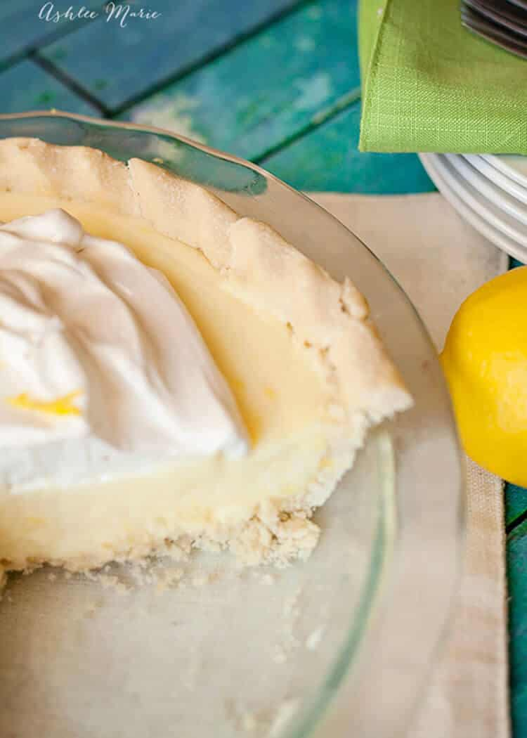 this sour cream lemon pie recipe is a classic
