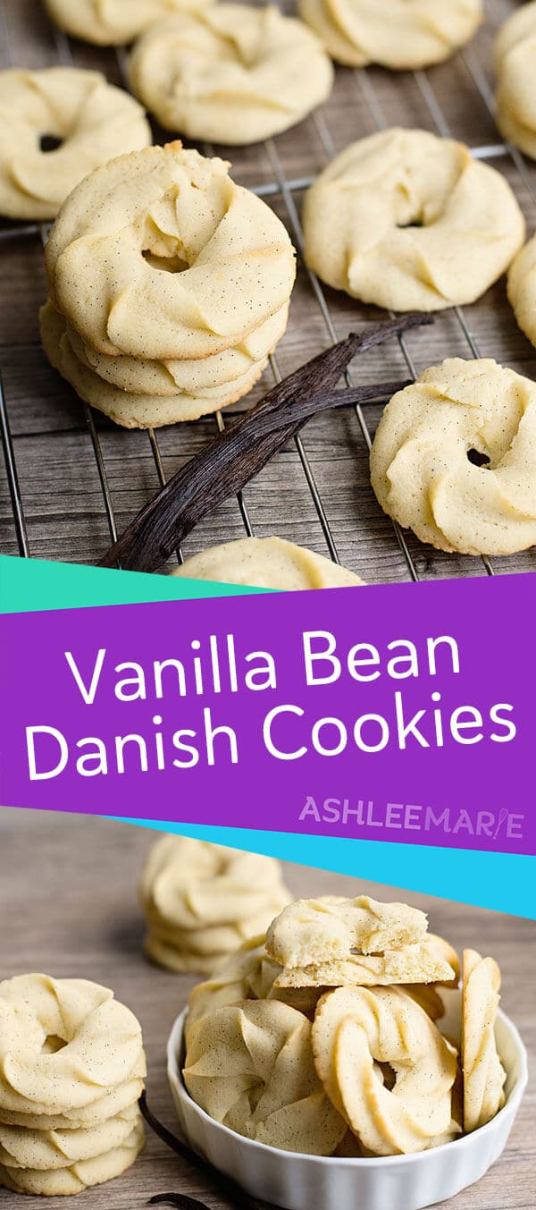 vanilla bean danish butter cookies