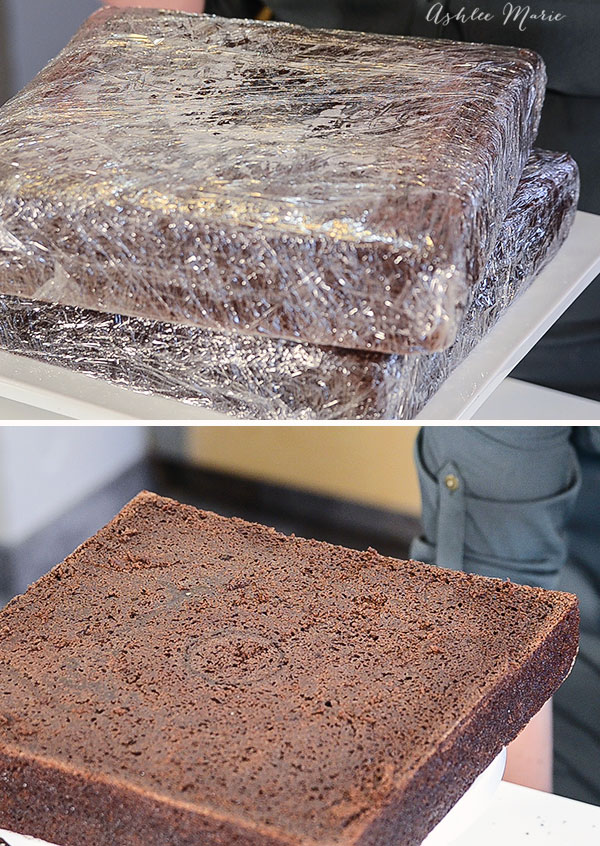 wrapping your cakes in plastic wrap and freezing them helps keep your cakes more moist