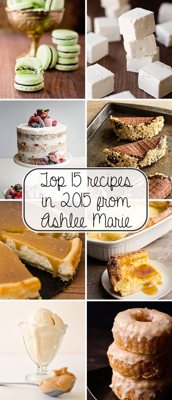 top fifteen recipes from Ashlee Marie in 2015