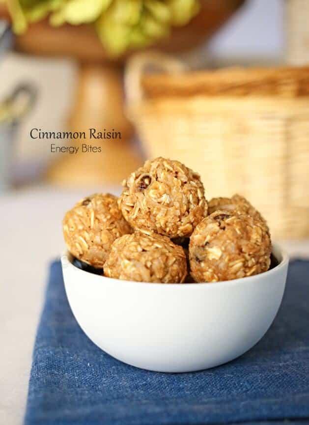 Cinnamon Raisin Energy Bites