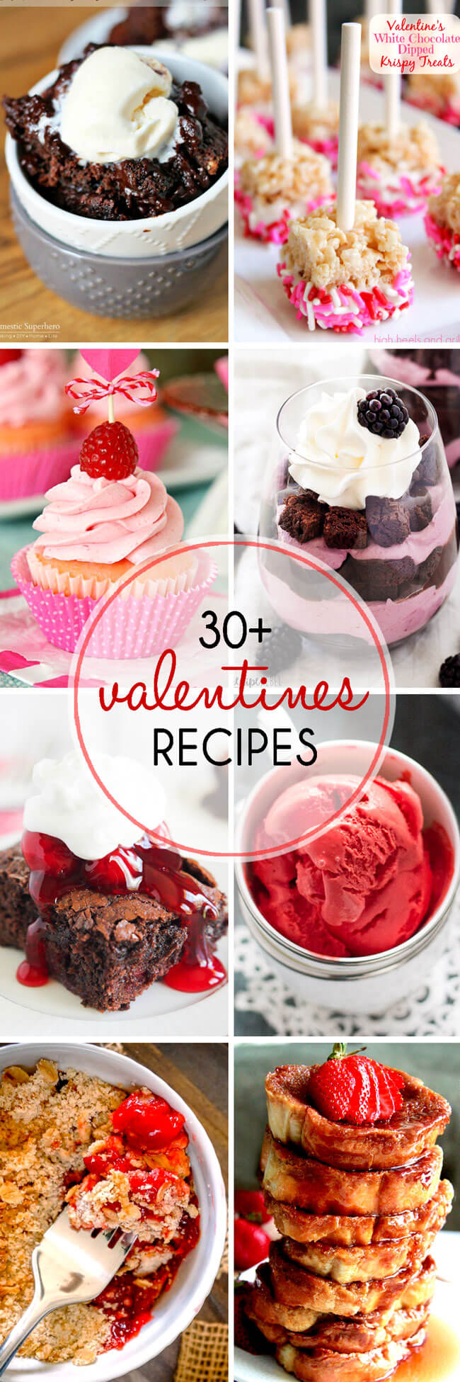 a collection of over thirty amazing valentines desserts