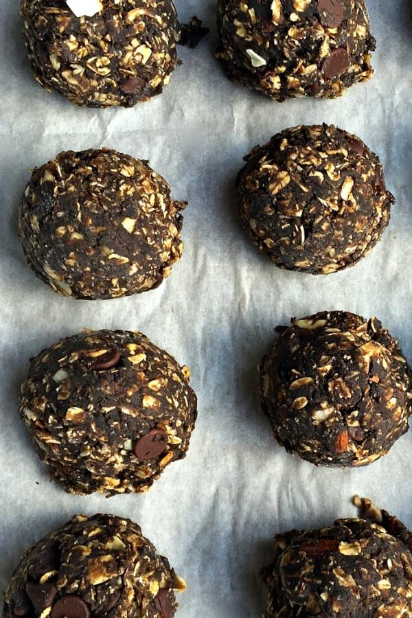 dark chocolate peanut butter no bake cookies