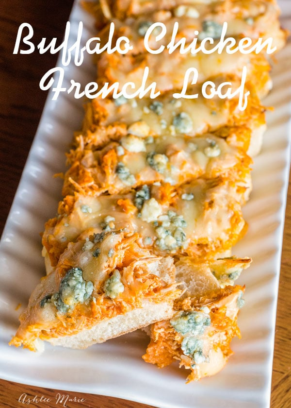 instant pot buffalo chicken french bread loaf